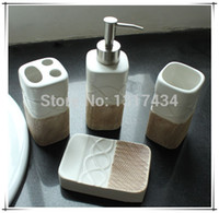 best bathroom products - 2015 Best Selling European mellow tone four piece set product toothbrush holder soap dispenser soap dish tooth mug bathroom accessories