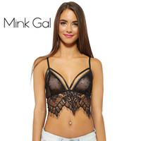 Bra Sets Unlined 5/8 Cup Mink Gal Sexy Mesh Tops For Women Female Underwear Underwear lingerie Strappy Bralette Lace Bra