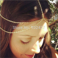 african head wraps - 2015 New Fashion Gold Head Chain Pieces Women Boho Headpiece Headband Metal Chain Hair Head Wrap Jewelry