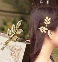athena jewelry - European and American jewelry new retro Sen Department of Athena female olive leaf hairpin