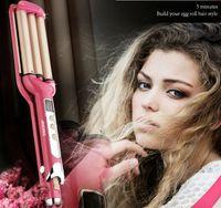 barrel curls - Professionhair Color Triple Barrel Hair Curler Products ST E Hair curling Euro plug