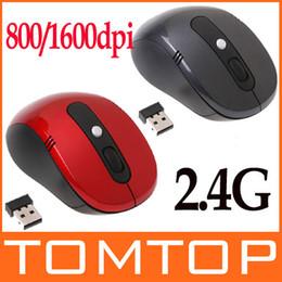 Wholesale-Portable Optical Wireless Mouse USB Receiver RF 2.4G For Desktop