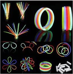 100pcs lot Wholesale Cheap Light Stick Glow Bracelet Party celebration glow in the dark Stick fluorescence stick Bracelet Toy