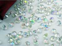 Wholesale hot sale new AB Colorful mm Carat Acrylic Crystal Dimond Confetti Wedding Party Decoration