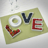 baby decorations ideas - LOVE Ceramic letter candy dishes for candy table wedding candy bar ideas baby shower wedding decoration fast amp