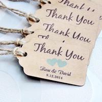 Revisiones Latas de papel-un agradecimiento personalizado de la boda etiquetas con 6 colores de corazón usted puede seleccionar el tipo de papel de la boda a favor de etiquetas Personalizadas Etiquetas de Regalo