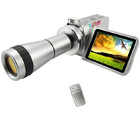 Wholesale 1PCS DV T digital vide Camera with Telescope Zoom Lens digital camcorder DV DVC PC