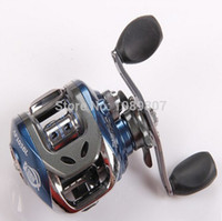 Wholesale NEW BB Ball Bearings Left Right Hand Baitcasting Fishing Reel Abu Garcia High Speed Carretilha Pesca Blue Black