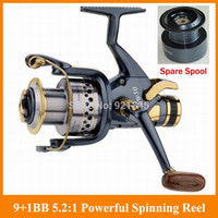 Wholesale SUPERIOR METAL SPINNING FISHING REEL BB Front and geer bb powerful Carp reel bait casting reel fly fishing reel