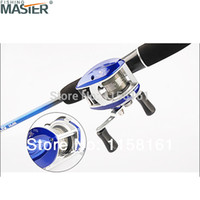 beginner fly fishing - 2015 new red and blue fishing reel lure reel Beginners baitcasting right hand