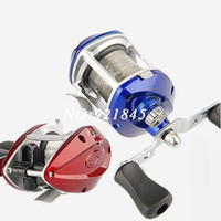 beginner fly fishing - 2015 new red and blue casting reel fishing reel lure reel Beginners baitcasting right hand fishing wheel