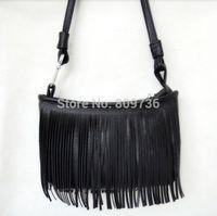 hippie bags - 1PC New Fashion Vintage Hippie Boho Suede like Fringed Shoulder Bag Tassel Crossbody Bag Women package Colors