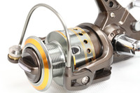 al cast - Hot BB Spinning Fishing Reel Carp reel Aluminum Body Al Spool Al die casting handle with EVA knob thick bail outdoor