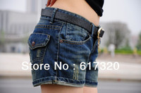 Cheap New Fashion 2015 spring summer Ripped denim shorts women's personality cool short jeans pants high quality shorts