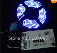 audio advertisement - M waterproof RGB Led strip light with IR music amp audio controller Led strips