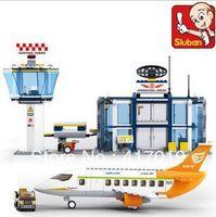 airport international - Without Original Box Sluban M38 B0367 D large Plactic Building Block sets children eductional toys International Airport