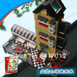 Wholesale WanGe very large hot D DIY Bricks blocks Building blocks sets children eductional toys Agile villa