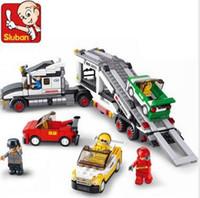 auto transport - Sluban M38 B0339 D construction eductional plastic Building Block Sets Auto Transport Truck children toys Christmas gift