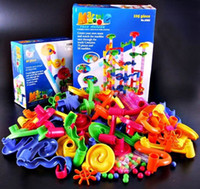 ball racing games - Baby Classic learning amp educational toys beads ball marble race running DIY building blocks roller coaster toy game