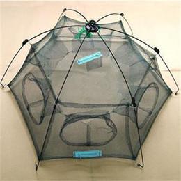 Креветки для рыб для продажи-Оптом размер 80X80cm 100х100см малых Сетка шестигранная сложить рыбалка чистой улов рыбы горшок Minnow ловушку Русе литой креветок чистой омаров корзина Кейдж