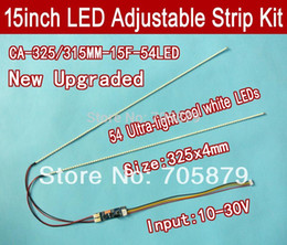 Wholesale 10pcs mm Adjustable brightness led backlight strip kit Update your inch ccfl lcd screen panel monitor to led bakclight