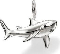 Wholesale silver fashion new shark pendant charm Super price LP311