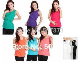 Wholesale A2agx Ultralarge elastic maternity feeding vest nursing tank teethe basic postpartum spaghetti strap clothes