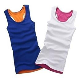 Wholesale 10pcs Temperament Cotton Long T shirt Mix Colour Ship Accept Hot Vest Colors Stock Available Lady Tank Tops