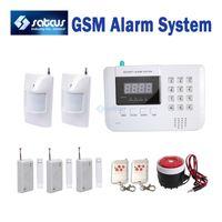 alarms sensor networks - 20 Off Zons GSM PSTN Dual Network Burglar Home Security Alarm system with PIR Detectors Door Sensors sg
