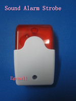 ad alarms - AD Mini V Security Wired Flash amp Sound Alarm Strobe Light Siren Red S164