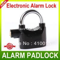 alarm padlocks - Black Alarm Security Steal safety Padlock Moped Bike Electronic Alarm Lock