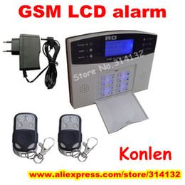 Wholesale wired wireless alarm gsm system for home security anti theif with LCD voice sms call amp listen in etc