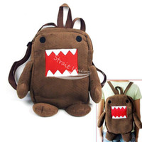 Wholesale Newest Domo Kun Figure Cartoon Cute Plush Backpack Soft Shoulder Bag School Brown