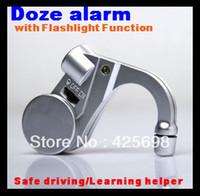 anti doze alarm - 2pcs Silver Doze alarm Anti Sleep Sound Alarm Nap Zapper for car drivers or students with flashlight function