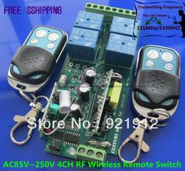2017 control remoto 315 Envío Gratis AC85V 250V 110V 180V 220V 230V 240V 4 canales inalámbricos de RF remoto relé de control del sistema de interruptor de seguridad 315 / 433MHZ control remoto 315 outlet