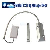 auto accessory garage - Wireless Metal Rolling Shutter Gates Garage Door Sensor For GSM PSTN Security Auto Dial Burglar Home Alarm System Accessory