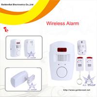 al por mayor alarma sin hilos del sensor de infrarrojos-Wireless IR infrarrojos Motion Sensor Remoto Alarmas Seguridad para el Hogar Sistema alarmas allarmi alarmes alarmer sensor de movimiento