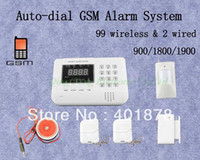 baby monitor sale - hot sale auto dial wireless Home Gsm Security Alarm System for baby monitor wireless and wires free ship