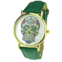 Wholesale Sale Hot Items Punk Sugar Hot Mexican Tattoo Skull Pendants Wristwatches Charm Women s Fashion watch New Arrival Product