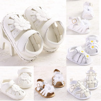 Wholesale 2015 New Fashion Summer Baby Gilrs Sandals amp Clogs White Flat With Soft Infant Toddler Kid Girls Sandals Baby shoes months