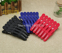 Wholesale 6pcs clip crocodile clips styling tools salon color cutting extension care tool