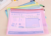 Wholesale 3pc Weidafa mesh zipper bag brief document case file folder A5 size PVC good quality for office and home