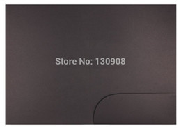 Blank Black Paper Presentation folder with ONE pocket size 22*31cm F0126A