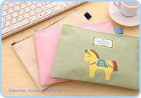 big bag filling - 12PCS Kawaii Horse Design BIG File Folder Documents File Bag Stationery Filling BAG School Office Storage File Pouch Holder