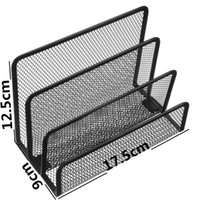 barbed wire books - New Black Office Supplies Barbed Wire Three Letter File For Mat Books Notepad Holder For School Desk Decor