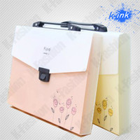 Wholesale Expanding file bag for girl hand bag for documents briefcase for documents file folder case
