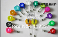 Wholesale wholesales adjustable quot Round Retractable ID Reel Key Chain Badge Holder