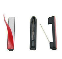 adhesive badge pin - Plastic Adhesive Bar Safety Pins ID Badge Crafting Part Color Black Pack of