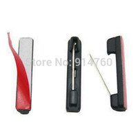 adhesive badge pin - Freeshipping Plastic Adhesive Bar Safety Pins ID Badge Crafting Part Color Black Pack of
