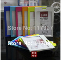 Wholesale horizontal vertical style badge holder id card holder with breakaway clip lanyards